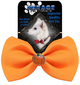 Pumpkin Widget Pet Bowtie Orange